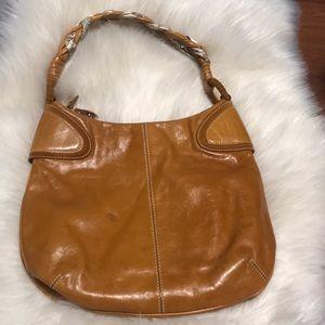 Francesco Biasia leather shoulder bucket Bag Purse